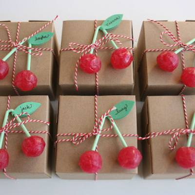 Cherry Party Favor Boxes