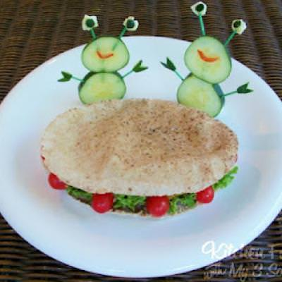 Flying Falafel Saucer Sandwich