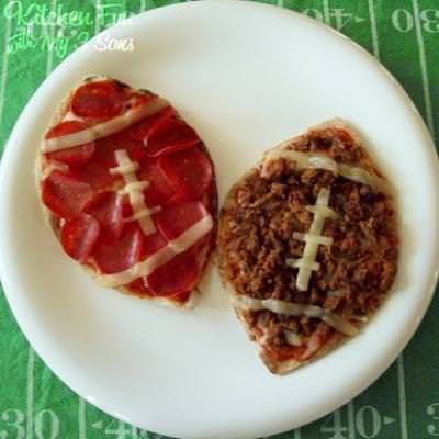 Football Pita Pizzas