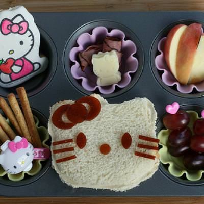 Hello Kitty Muffin Tin Lunch {Kids Easy Edible Crafts}