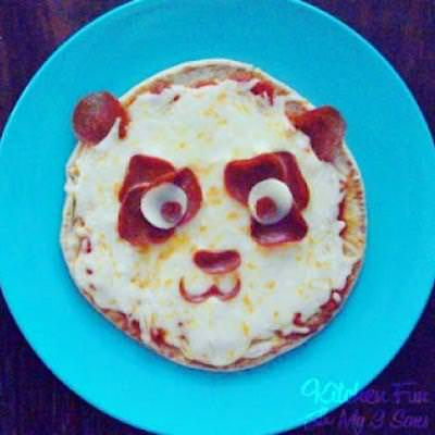 Panda Pita Pepperoni Pizza