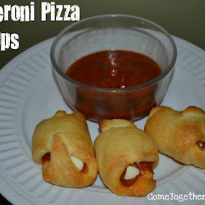 Pizza Roll-Ups {Appetizers}