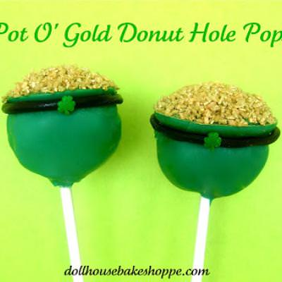 Pot of Gold Donut Hole Pops