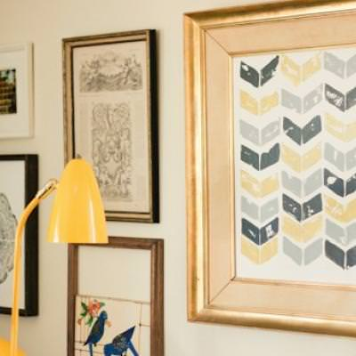 Potato Stamp Chevron Art