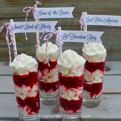 Raspberry Parfaits (Eton Mess)