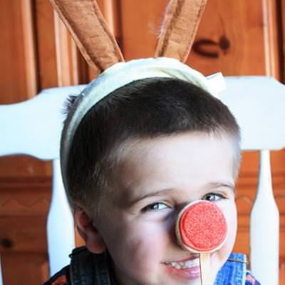 Rudolph Nose Cookie on a Stick {Crafts for Preschool}