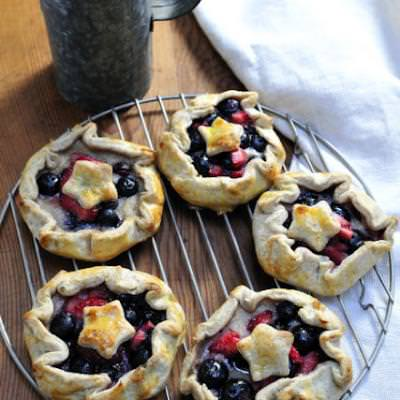 Rustic 4th of July Fruit Galettes