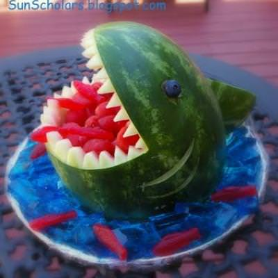 Shark Bite Watermelon {Food Crafts}