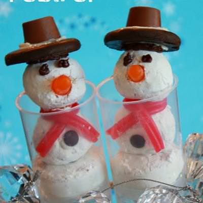 Snowman Push Pops {Fun Food}