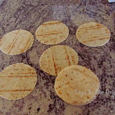 Tortilla Chip Snowflakes