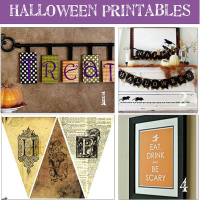 20 Free Halloween Printables {Halloween Printable Crafts}