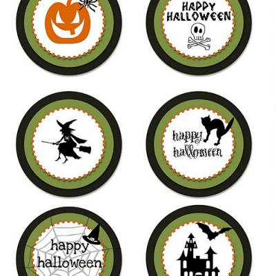 FREE printable halloween party circles