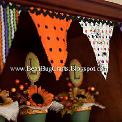 Halloween Fabric Banner Tutoral