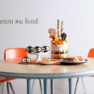 Halloween School Party - Food Station {Ideas for a Halloween Party}