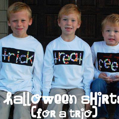 Halloween Shirts for a Trio