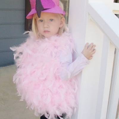 No-sew Flamingo Costume