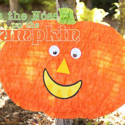 Pin the Nose on the Pumpkin {Halloween Party Games for Kids}