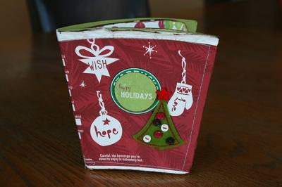 A Mini Album from a Recycled Starbucks Coffee Cup {paper craft}