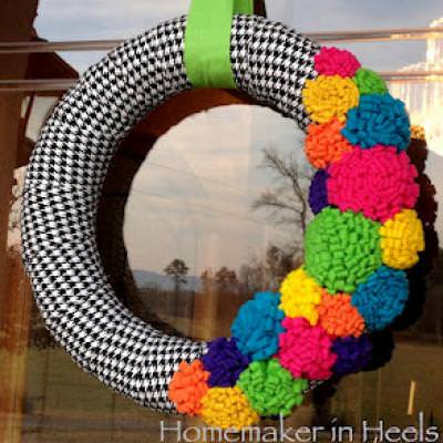 Bright Colored Spring Wreath {How-To}