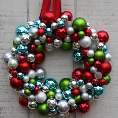 DIY Christmas Ornament Wreath