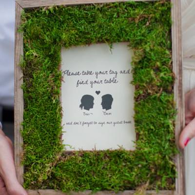 DIY Natural Moss Picture Frame
