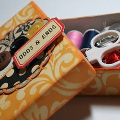 Dollar Store Sewing Kit {Paper Crafts}