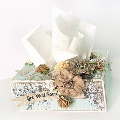 Embellished Tissue Box {Get Well Gift}