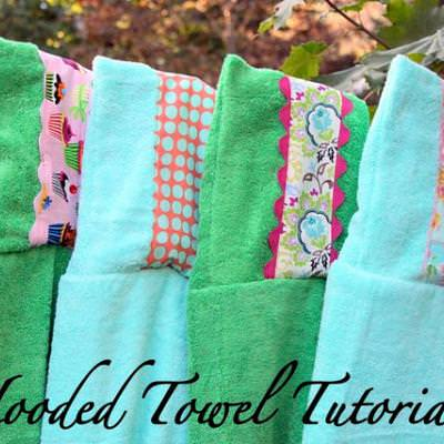 Embellished Hooded Towels {Kids Gifts}