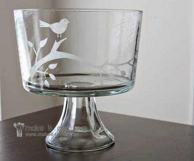 Etched Trifle Bowl {How-To}