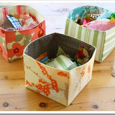 Fabric Scrap Basket {Birthday Gift Idea}