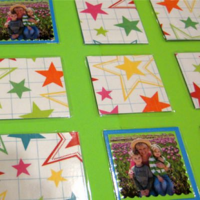 Family Photo Memory Game {cheap gift}