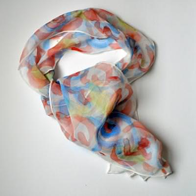 Hand Painted Scarf