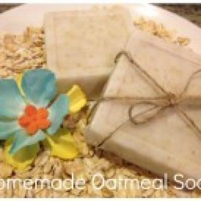 Homemade Almond Oatmeal Soap