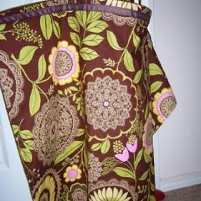 how to make a nursing cover from a blanket