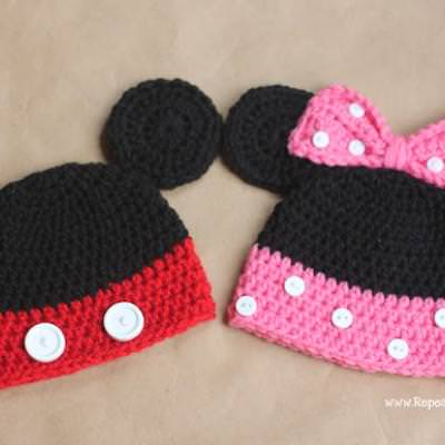 Mickey And Minnie Mouse Crochet Hats Free Patterns Tip Junkie