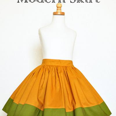 Modern or Vintage Skirt Tutorial {Sewing How-To}