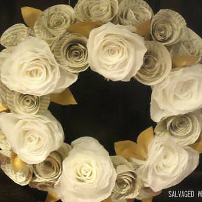 Rolled Paper Wreath Tutorial {Home Decor Gift Ideas}