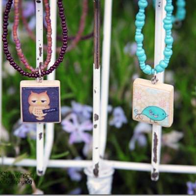 Scrabble Tile Necklace How-To
