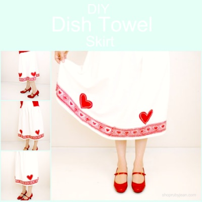 Sew A Skirt From Dish Towels {Pictured Instructions}
