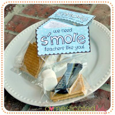 S'more Teacher Appreciation Gift {Free Printable}