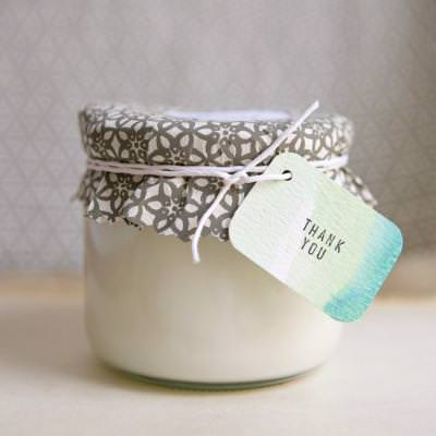 Soy Candle Wedding Favor