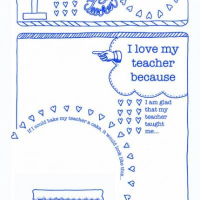Teacher Thank You {Free Printables}