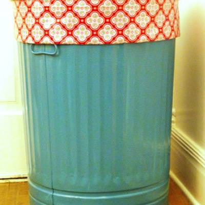 Trash Can Laundry Basket {DIY}