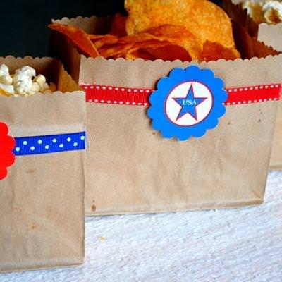 4th of July Snack Bags [Fourth of July Barbecue]