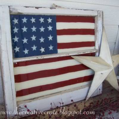 Painted Flag Window {Outdoor Flag}