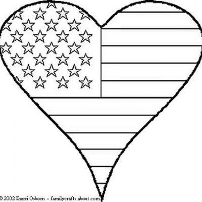 Patriotic Heart Coloring Sheet {Patriotic Coloring Pages} | Tip Junkie