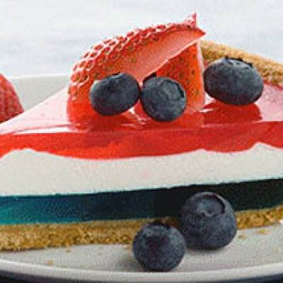 Patriotic Jell-o Pie {Jello Recipes}