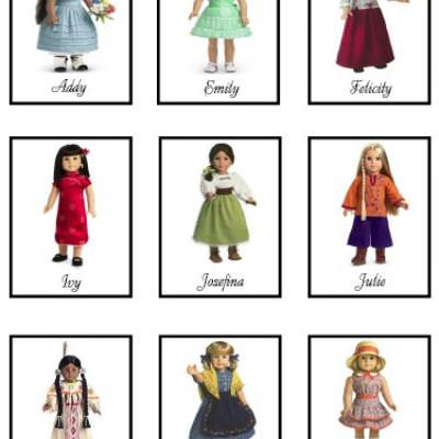 American Girl Memory {Kids Games}