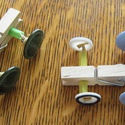 Clothespin Button Racer {Cool Craft}