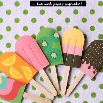 DIY Paper Popsicle Memory Game {Free Craft Printables}